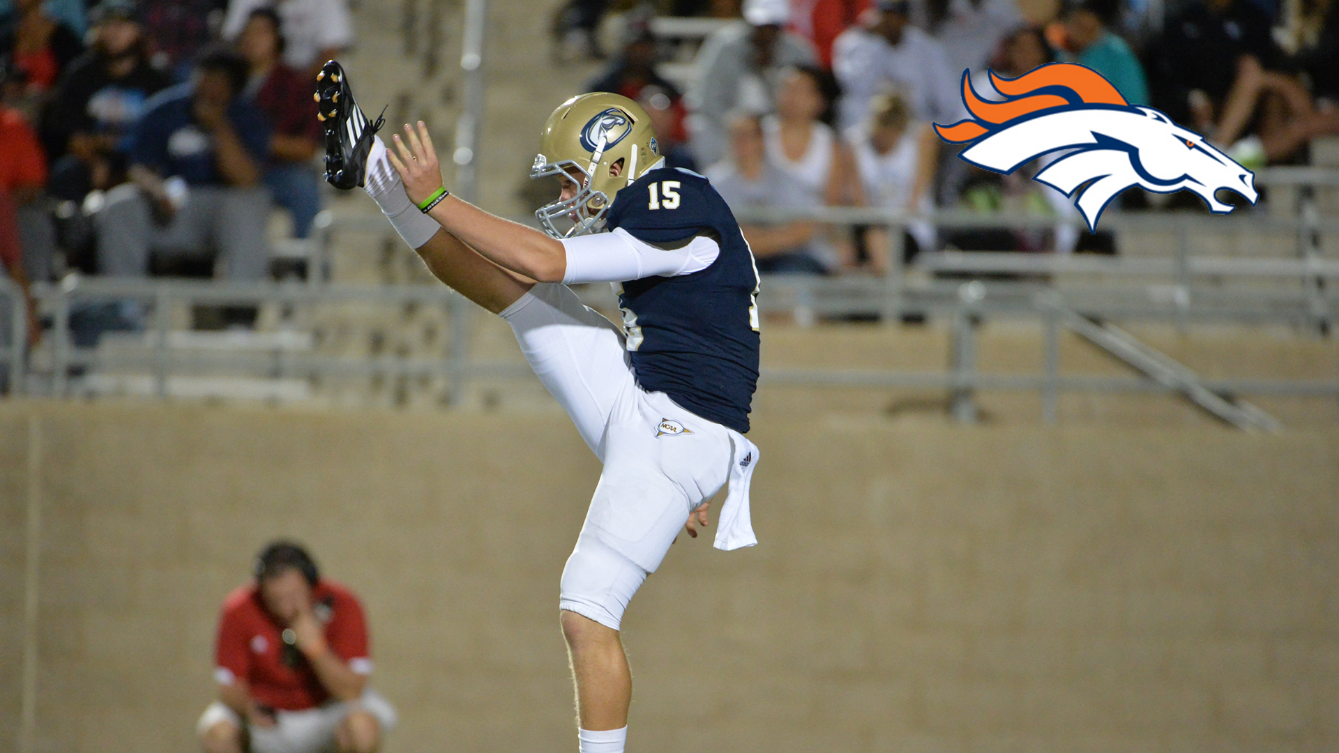 Colby Wadman Photo with Denver Broncos Logo