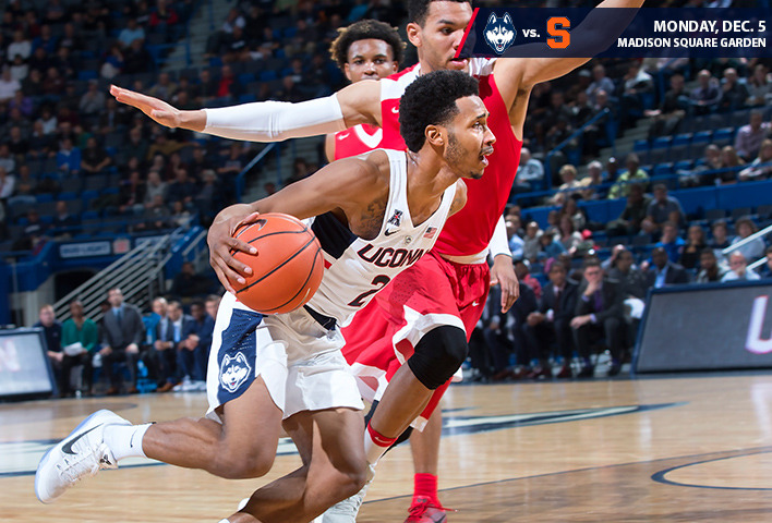 Huskies Square Off With No 22 Syracuse At Msg Uconn Huskies