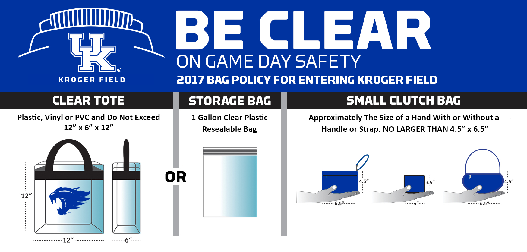 Sec Clear Bag Policy In Place For Uk Football Home Opener